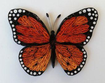 Carta farfalla Quilled - 8 x 10