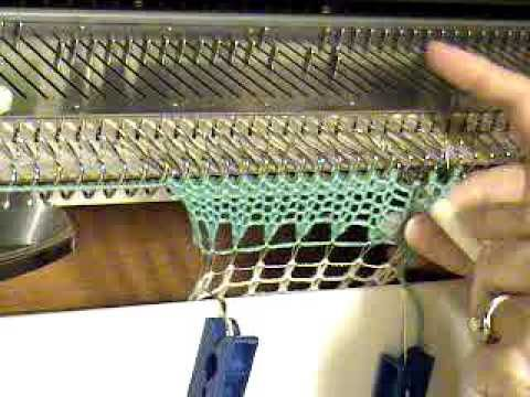 Lesson 27 Latched Ribbing  How to cast on and rib without a ribber.  Excelllent!