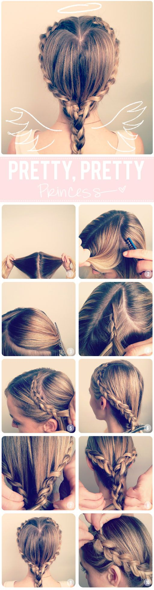 DIY Heart Braid Up-do Hairstyle ♥