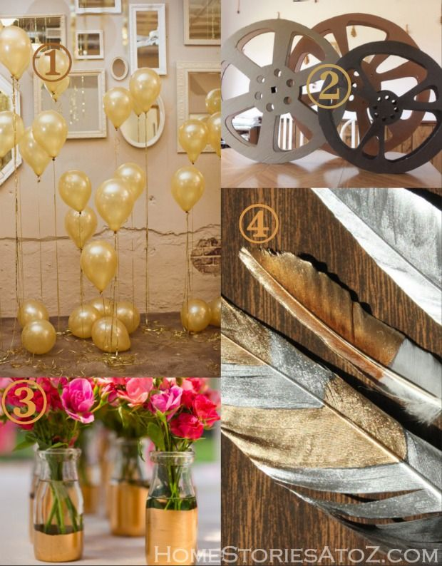 Oscar party decorating ideas. Last minute ideas that can be done in a day.