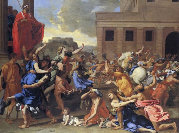 The Abduction of the Sabine Women (1635), Nicolas Poussin, The Metropolitan Museum of Art, New York