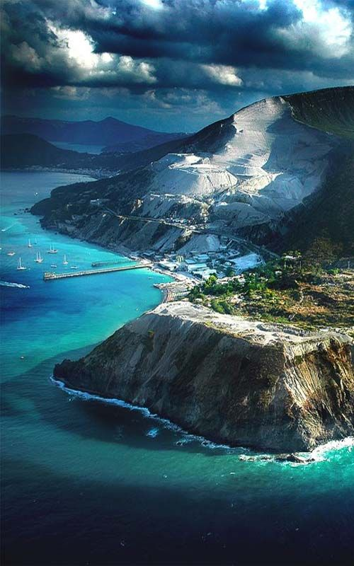 Lipari, the largest of the Aeolian Islands north of Sicily, Italy.