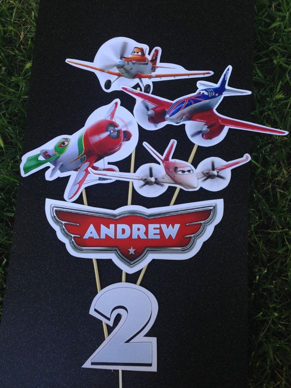 PLANES Personalized Party Centerpiece Disney by MyDreamPartyShop, $12.00