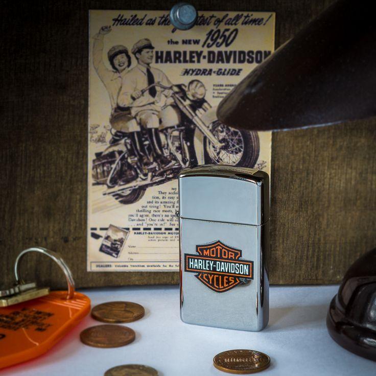 Zippo HARLEY-DAVIDSON SLIM #lighter #Harley #HD #Briquet #Zippo #motorcycles #moto #Vtwin #madeinUSA #americanproduct #Bradford #americandesign #hydra #lecomptoiramericain #Electraglide #883 #HD