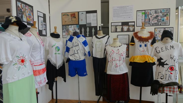 fantastic #upcycling end of term project @Art_Racc Foyer Fashion Level1 students work display