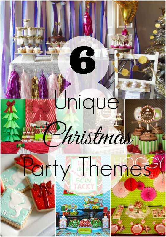 6 Unique Christmas Party Themes #todaysmama