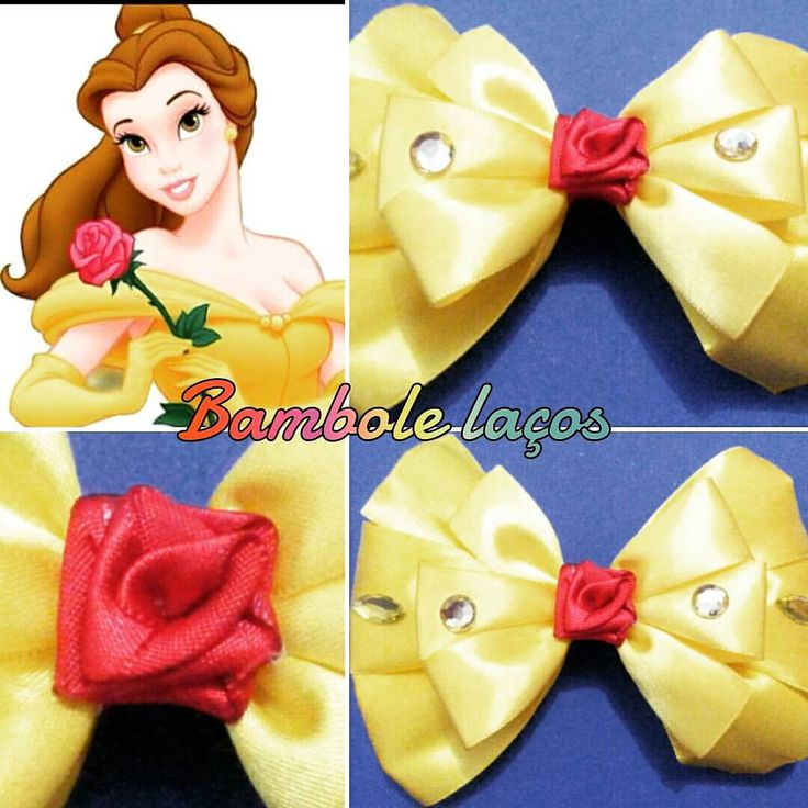 Bela e a fera.  #princesasdisney #lacos #lacosdasprincesas #laco #laço  #laços #meninadelaço #tiara  - bambolelacos