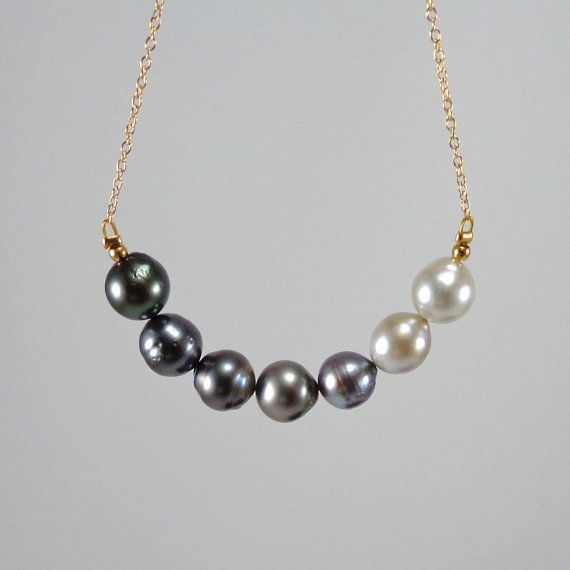 Tahitian Pearls / Tahitian Pearl Necklace/ by angelovajewelry