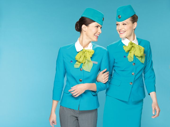 Russia - S7 Airlines cabin crew uniform