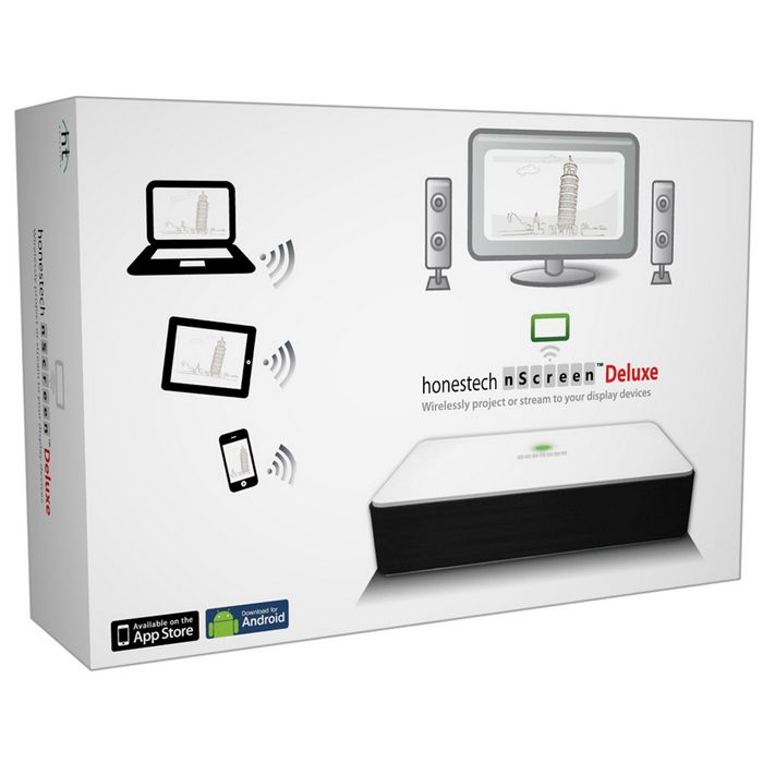 Project your PC/Mac screen and audio to a display device such as a TV, projector or monitor using a wireless network.