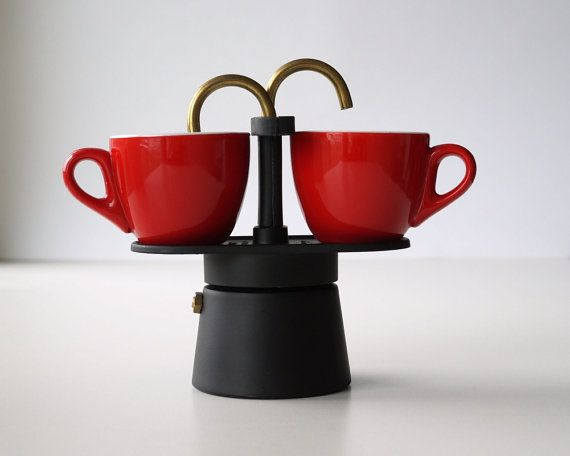 Vintage Italian coffee maker Bialetti 2 cups Moka by RosaGeranio