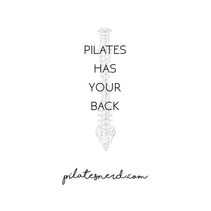 Pilates has your BACK