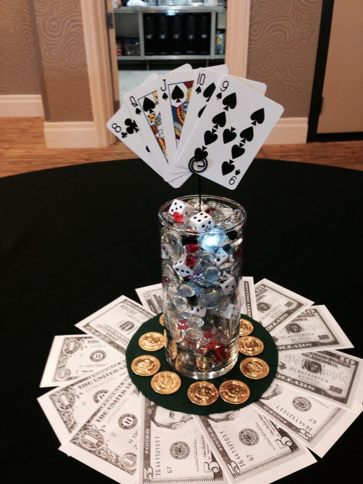 Gambling table decoration Party themes Pinterest