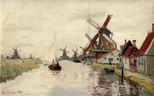Windmills in Holland - Claude Monet
