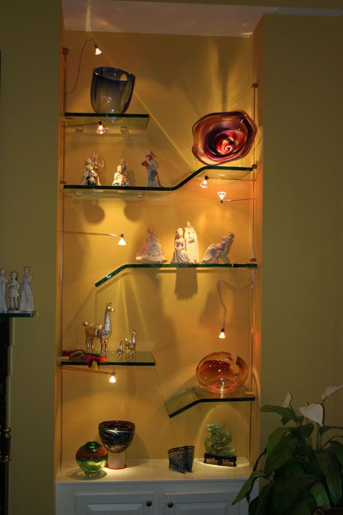 295 best images about built in shelves on pinterest - Glass corner shelf for living room ...