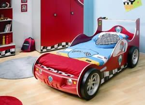 This is a racing car themed bed for boys which even has working headlights, It's a solid themed bed construction made by Cilek