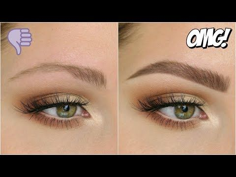 this is the best brow routine i've seen - just powder and