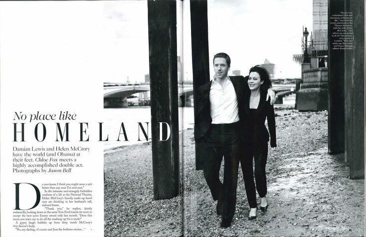 Helen McCrory wearing La Mania featured in British Vogue