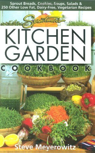 Sproutman's Kitchen Garden Cookbook: 250 flourless, Dairyless, Low Temperature, Low Fat, Low Salt, Living Food Vegetarian Recipes by Steve Meyerowitz, http://www.amazon.com/dp/1878736868/ref=cm_sw_r_pi_dp_UvAdrb0C752W0