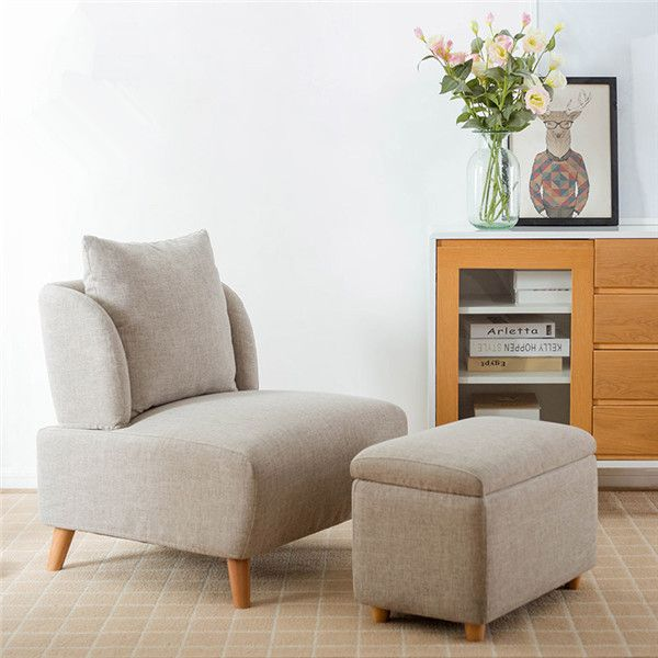 Timothy Mid Century Oversized Accent Chair With Footrest Mid