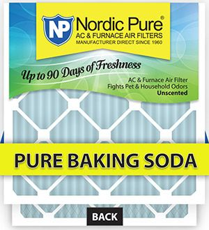 Nordic Pure Pure Baking Soda AC Furnace Air Filters will keep your home smelling fresh for the holidays. SAVE 10% with coupon Code: PinF15 - Expires 1/31/2016. Check out all the different types and sizes of AC furnace air filters that we manufacture.