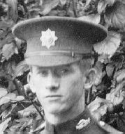 Service dress cap in Khaki serge. The metal cap badge varied from regiment to regiment. Smart in appearance when new it quickly softened and lost its shape in service. It was replaced for field use by the steel shrapnel helmet in 1916.