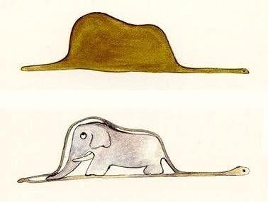Antoine de Saint-Exupéry - Le Petit Prince, le boa et l'éléphant