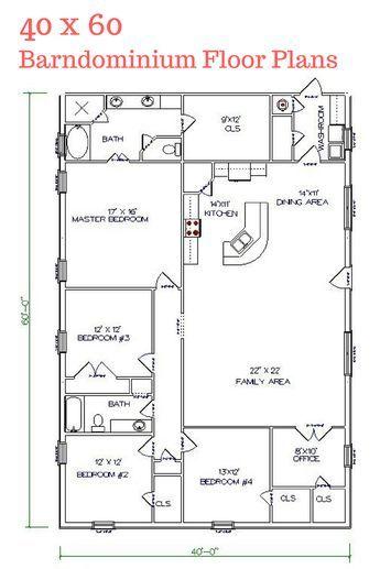 I really LOVE this floor plan. Texas Barndominiums, Texas Metal Homes, Texas Steel Homes, Texas Barn Homes, Barndominium Floor Plans                                                                                                                                                                                 More