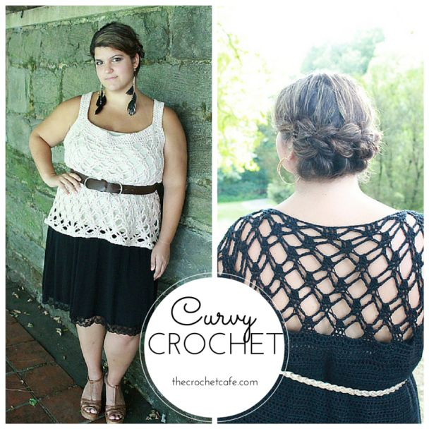 108d27539fb Curvy Crochet Patterns for Plus-Size Women. I love these tops ...