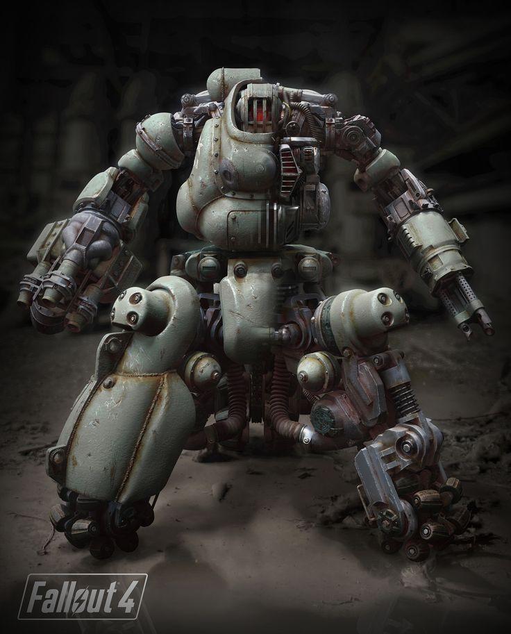 ArtStation - Fallout 4 Sentry Bot, Dennis Mejillones