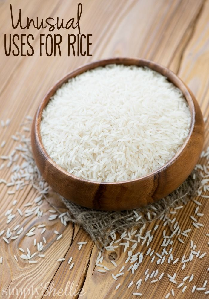 I bet you didn't know rice could be used for other things than eating. Here are a bunch of unusual uses for rice to try around your house. Tip #6 is one that I use often. I'm excited to try #5.