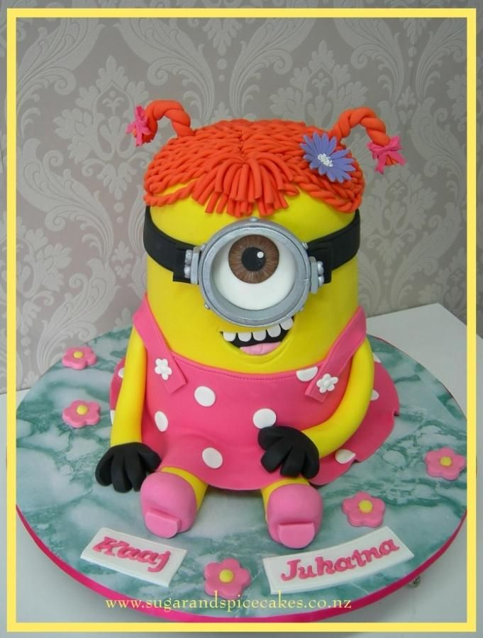 Stuart Minion in a dress! by Mel_SugarandSpiceCakes