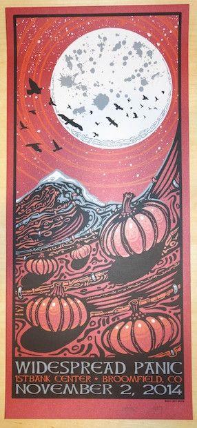 2014 Widespread Panic - Broomfield III Concert Poster by Jeff Wood