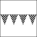 Pennants, streamers, everything checkered!