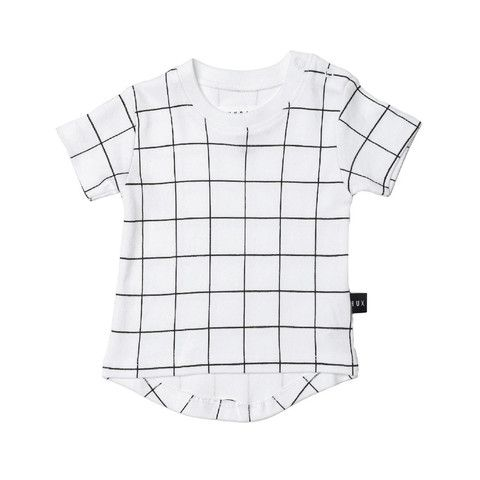 Grid Drop Back T Shirt