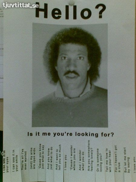 Lionel Richie Hello? things-that-make-me-giggle