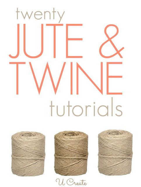 Lots of jute and twine tutorials for your home, packaging ideas, and more!
