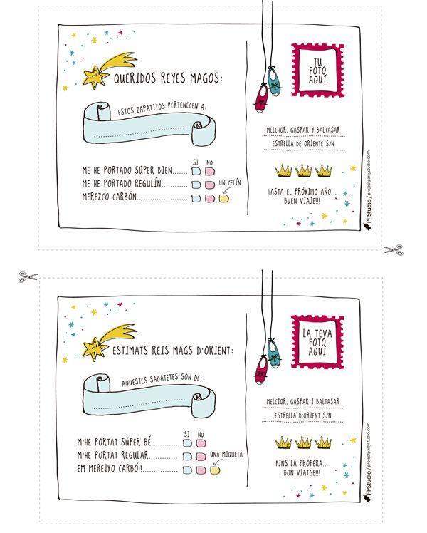 Queridos reyes magos... Carta infantil para los reyes magos