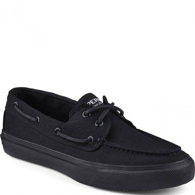 STS12307 Sperry Men's Bahama 2-Eye Casual Sneaker - Black www.bootbay.com