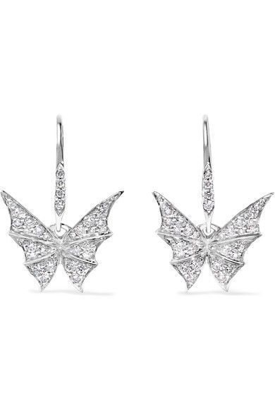 Stephen Webster - Fly By Night 18-karat White Gold Diamond Earrings - one size