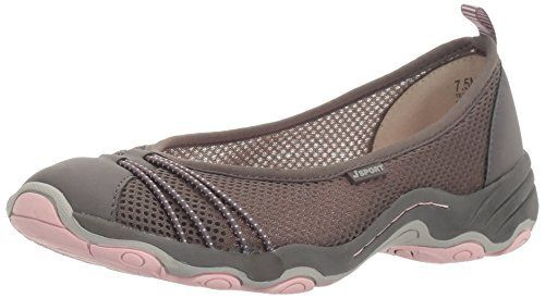 New Trending Celebrity Looks: JSport by Jambu Women's Spin Encore Ballet Flat, Dark Grey/Petal, 10 M US.    JSport by Jambu Women's Spin Encore Ballet Flat, Dark Grey/Petal, 10 M US   Special Offer: $39.95      377 Reviews   All the style of a ballet flat, with the added benefits of all-day cushioning and breathability. with lightweight mesh and vegan microbuck around your feet, the spin...