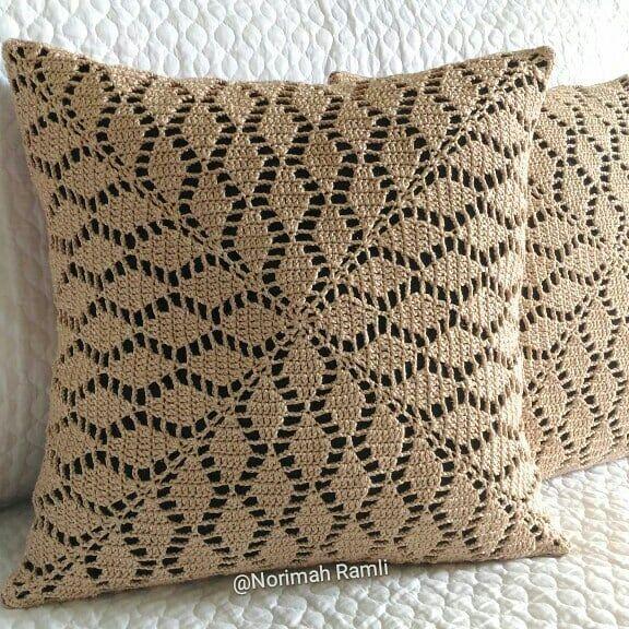 588 Likes 13 Comments Cushion Cover Crochet Norimah Ramli