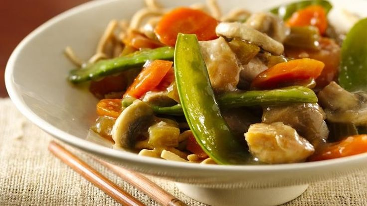 Chow mein for four? You can have it in the crock in just 15 minutes!