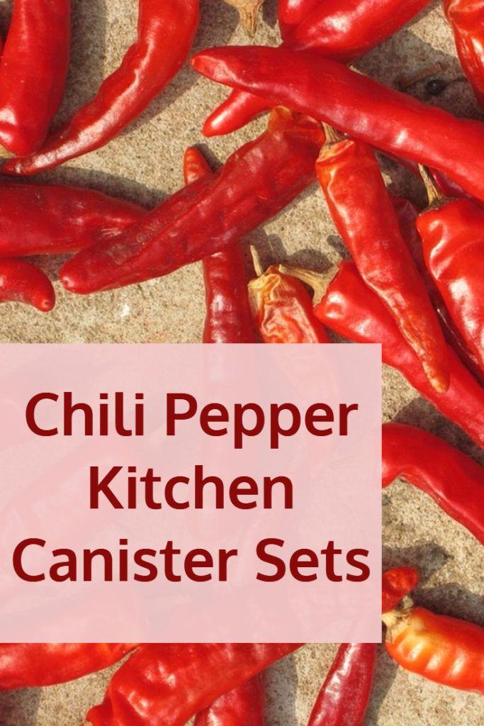 Red Chili Pepper Design Kitchen Canister Sets. Kitchen Storage JarsKitchen  ...