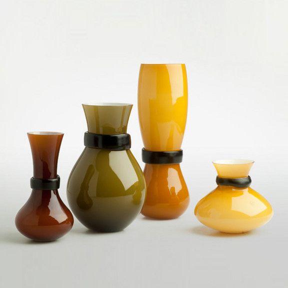 'Fasciati Vase' designed by Simon Moore for Salviati.