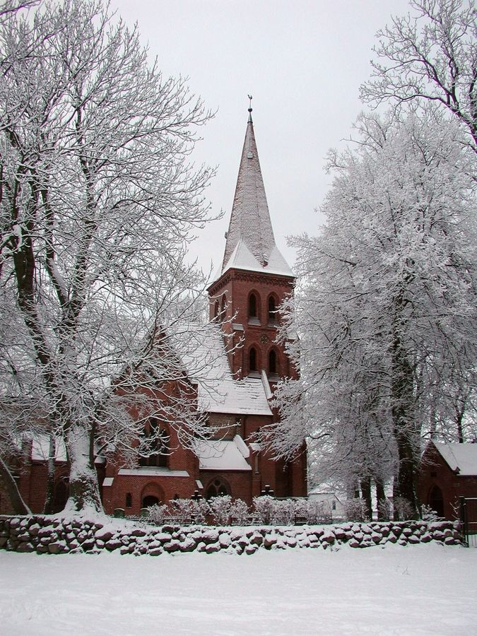 Winter Church. Toitenwinkel, Mecklenburg, Germany