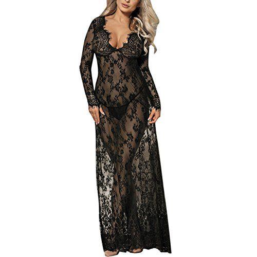 5deb53319607ae De feuilles Damen Schwanger Kleid Mutterschaft Dress Sexy Jerseykleid  Spitze Langarm Tank Kleid Lange Maxi Kleid