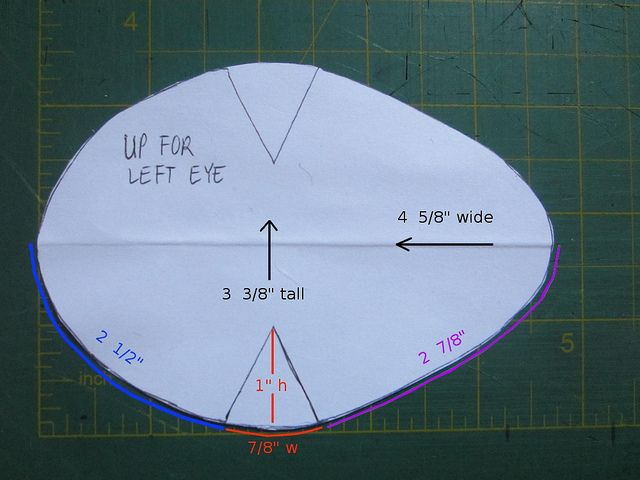 Tutorial: Sewing an eye patch for lazy eye / strabismus / amblyopia