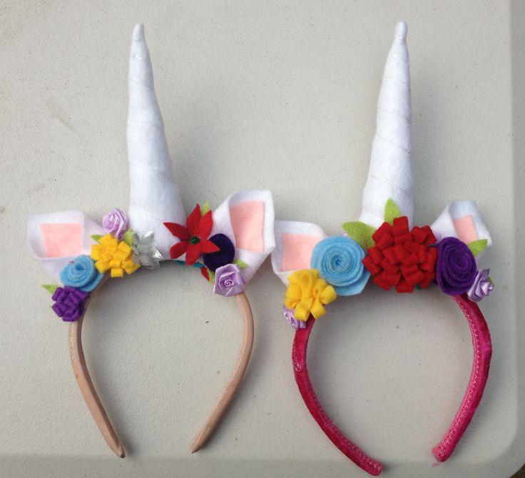 Rainbow Unicorn Party Favor Headbands Glamluxepartydecor
