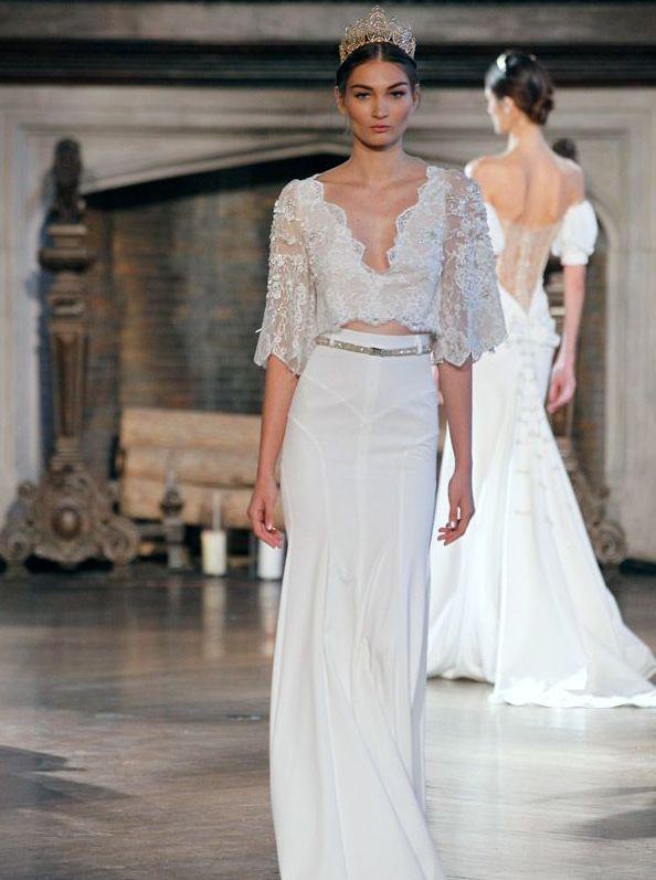 Stunning 40+ Einfache Crop Top Brautkleider Ideen ...